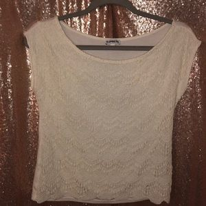 Lace Front Cap Sleeve Top